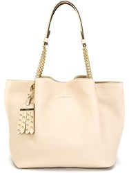 Tod's Chain Handle Tote Nude And Neutrals