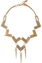 Erickson Beamon Awaken Gold Plated Swarovski Crystal Necklace