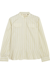 Marni Striped Cotton Shirt Yellow