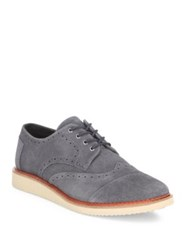 Toms Suede Brogue Lace Up Shoes Grey