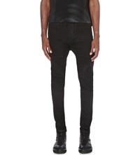 Julius Waxed Slim Fit Skinny Jeans Black