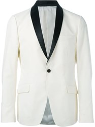 Z Zegna Shawl Collar Blazer Nude And Neutrals
