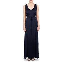Maiyet Silk Plisse Long Tank Dress Navy