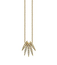 Sydney Evan Needle Drop Diamond Gold Necklace Female Yellow Gold