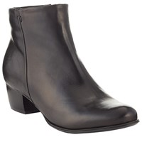John Lewis Albany Leather Ankle Boots Black