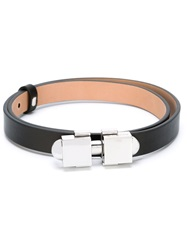 Carven Square Buckle Belt Black
