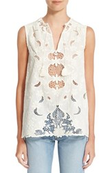 Sea Women's Sleeveless Embroidered Top