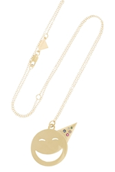 Alison Lou Party On 14 Karat Gold Multi Stone Necklace