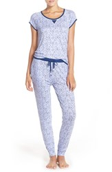 Kensie Women's Print Jersey Pajama Set Raindrop Sheep