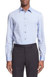 Men's Armani Collezioni Trim Fit Micro Diamond Dress Shirt