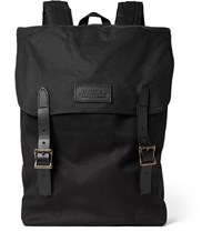Filson Ranger Leather Trimmed Twill Backpack Black