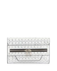 Milly Bowery Hologram Clutch Bag Silver