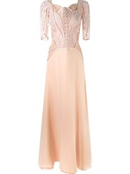 Martha Medeiros Lace Top Gown Pink And Purple