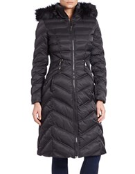 Laundry By Shelli Segal Faux Fur Trimmed Down Puffer Jacket