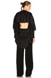 Givenchy Silk Twill Open Back Blouse In Black
