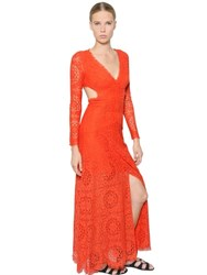 Temperley London Back Cutout Embroidered Lace Dress