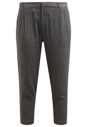 Noisy May Nmmensy Trousers Dark Grey Melange Mottled Dark Grey