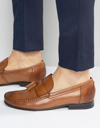 Ted Baker Simbaa Leather Tassel Loafers Brown