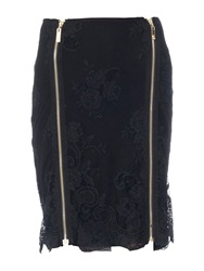 Relish Adler Pencil Skirt In Lace Black