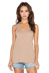 Bobi Light Weight Jersey Tank Taupe