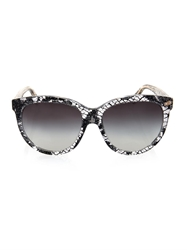 Dolce And Gabbana Floral Lace Round Framed Sunglasses
