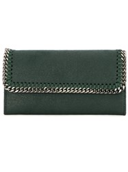 Stella Mccartney 'Falabella' Flap Wallet Green