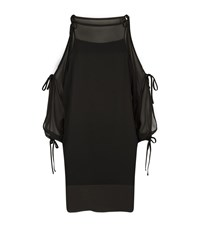Escada Diwonna Cold Shoulder Dress Female Black