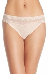Women's Natori 'Bliss Perfection' Thong Beige 3 For 45 Cameo Rose