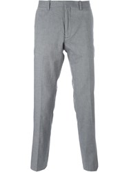 Michael Michael Kors Chambray Slim Trousers Grey