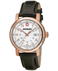 Wenger Women's Swiss Urban Classic Brown Leather Strap Watch 34Mm 01.1021.108
