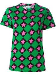 Au Jour Le Jour All Over Printed T Shirt Green
