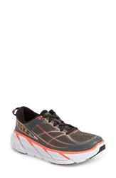 Women's Hoka One One 'Clifton 2' Running Shoe Grey Neon Coral