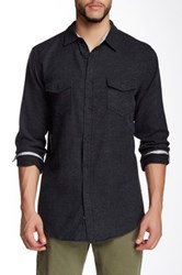 Burnside Solid Long Sleeve Shirt Black