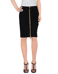 Moschino Couture Skirts Knee Length Skirts Women Black