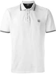Just Cavalli Logo Embroidered Polo Shirt Nude And Neutrals