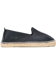 Manebi Manebi Leather Espadrilles Blue