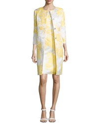 Albert Nipon 3 4 Sleeve Jacquard Jacket With Sheath Dress Women's