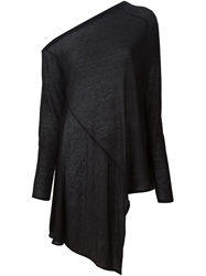 Lost And Found Off Shoulder Draped Sweater Black