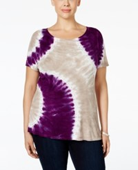 Inc International Concepts Plus Size Tie Dyed Top Only At Macy's Geo Tie Dye