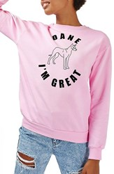 Topshop Women's By Tee And Cake Dane I'm Great Sweatshirt