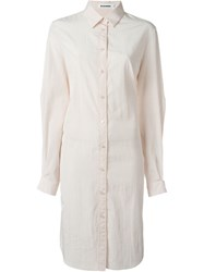 Jil Sander Cut Out Sleeve Long Shirt Nude And Neutrals