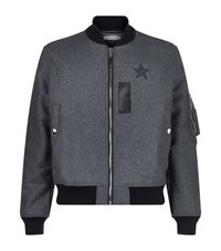Givenchy Wool Flannel Bomber Jacket Male Black