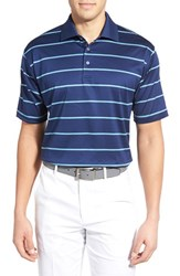 Men's Bobby Jones 'Frame' Stripe Mercerized Golf Polo Summer Navy