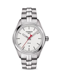 Tissot Nba Pr 100 Stainless Steel Watch 33Mm White Silver
