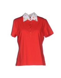 Jeans Les Copains Polo Shirts Red