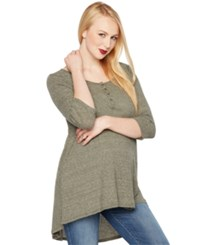 A Pea In The Pod Maternity High Low Henley Top