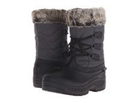 Tundra Boots Dot Grey Black Women's Cold Weather Boots Gray