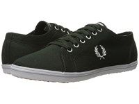 Fred Perry Kingston Twill British Racing Green Dolphin Men's Lace Up Casual Shoes Black