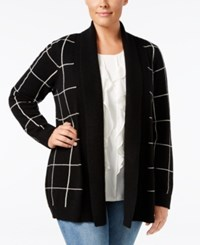 Charter Club Plus Size Cashmere Shawl Collar Cardigan Only At Macy's Classic Black