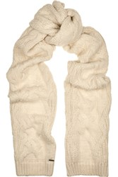 Maje Cable Knit Scarf White